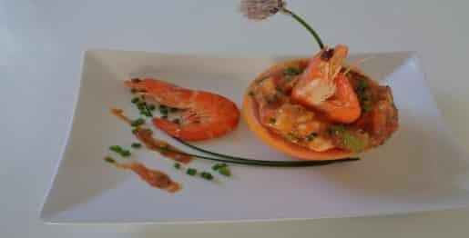 pamplemousse aux crevettes