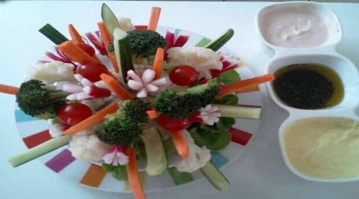 Bouquet de crudites au melon, bouchée légumes pour l'apéritif