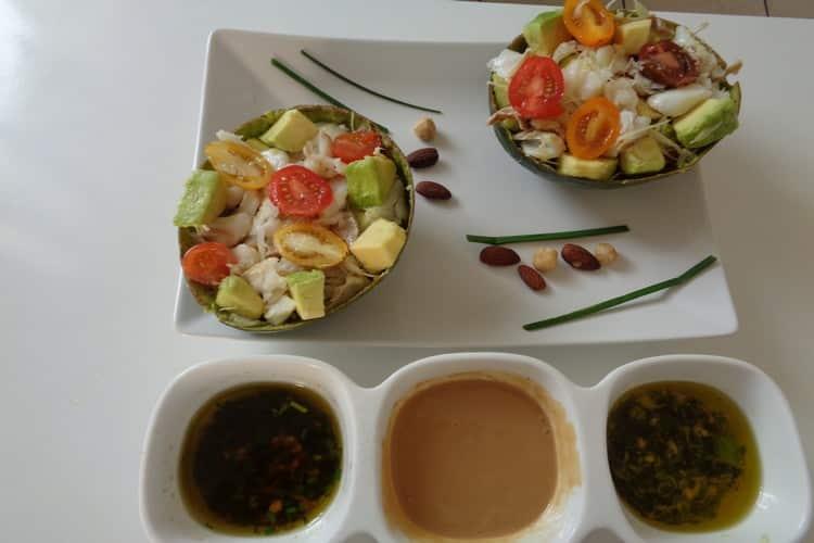 Avocat tropical 3 sauces froides - recette plaisir gourmand.