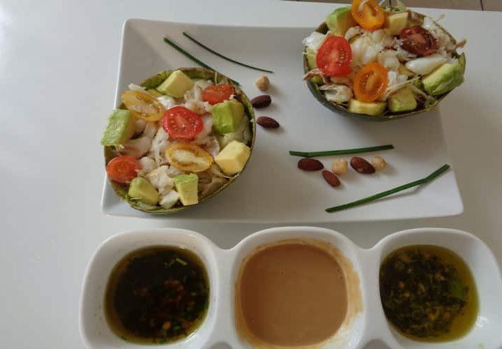 Avocat tropical 3 sauces froides – recette plaisir gourmand.