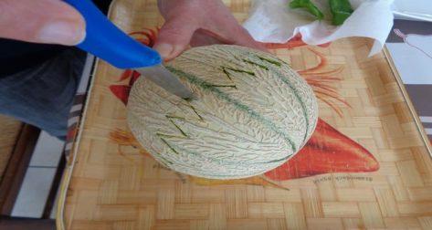 boules de melon au porto dents de scie