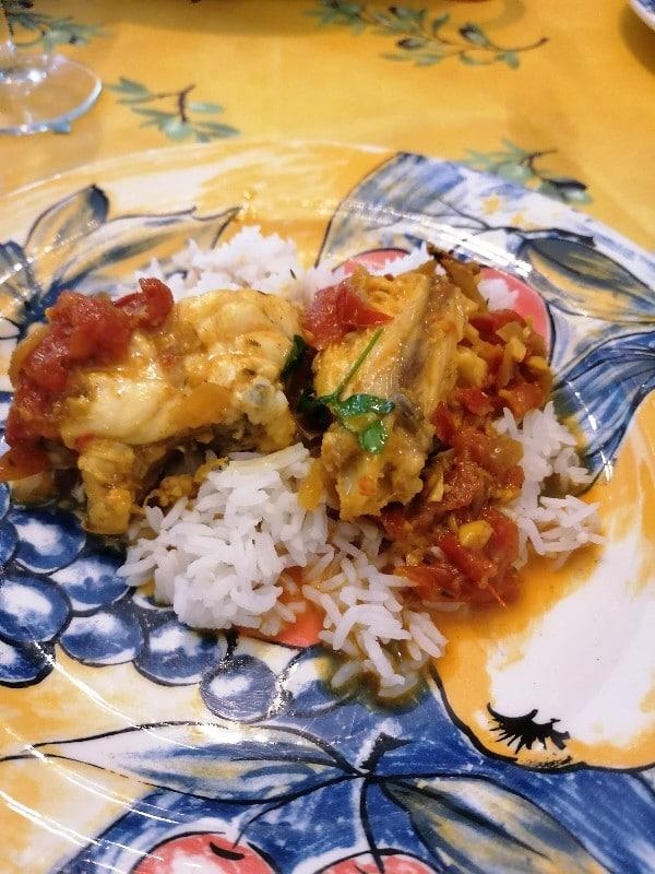 cari poisson au gingembre - Cuisine végétarienne - Le déjeuner