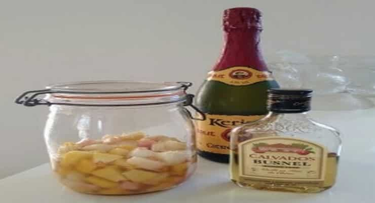 cocktail au cidre et fruits calvados