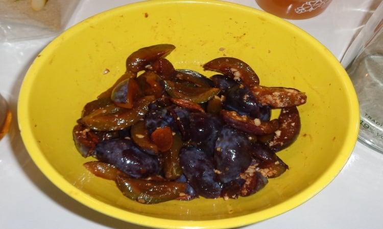 feuilleté roulé quetsche fruit
