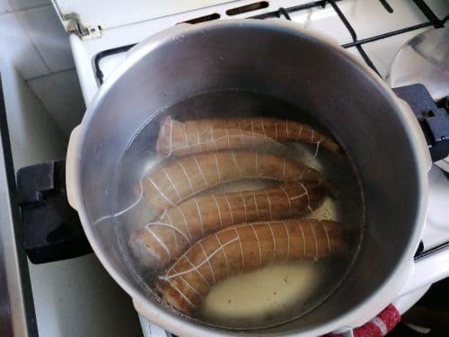 la cuisson de zandouille en cocotte