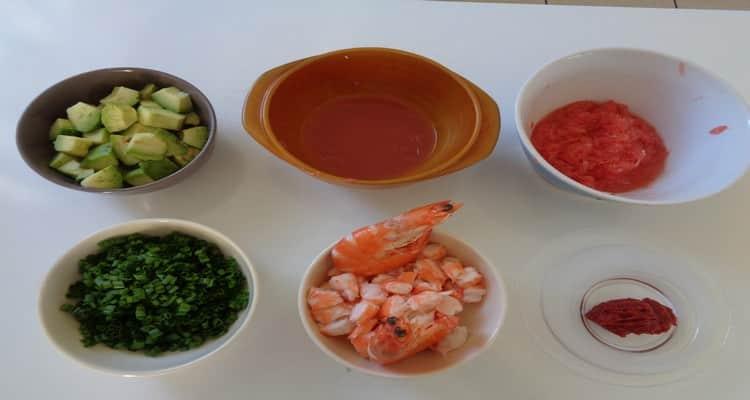 pamplemousse aux crevettes preparation
