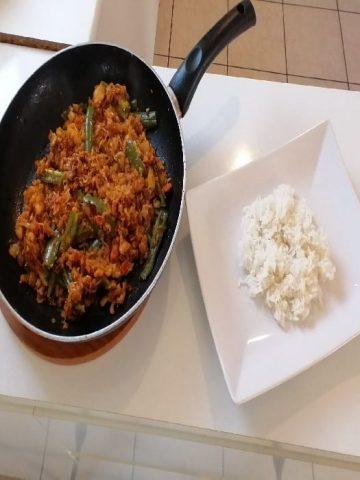 rougail la morue - Cuisine végétarienne - Curry