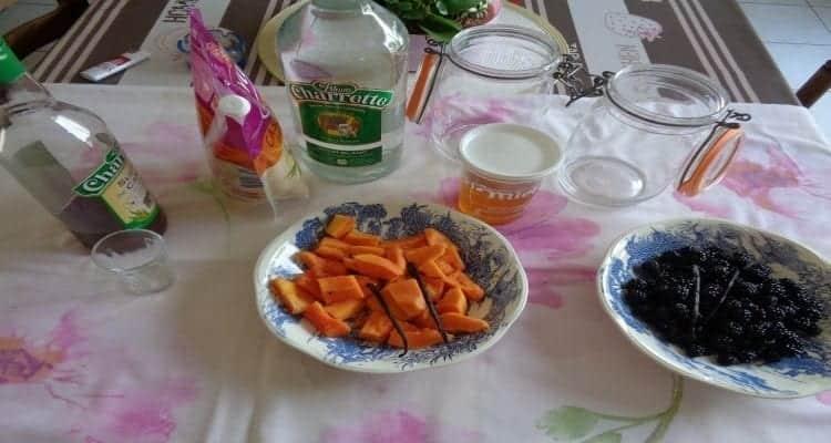 rhum arrangé papaye et mures