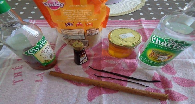 rhum cannelle vanille preparation