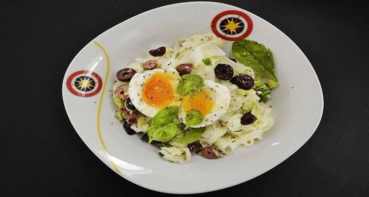 salade de riz aux olives, la présentation