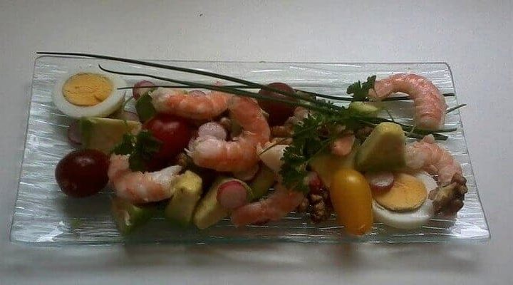 Salades fraîcheur de l'Océan, Salade de l'Océan crevette cerneaux de noix