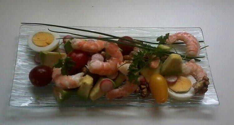salades fraîcheur crevette