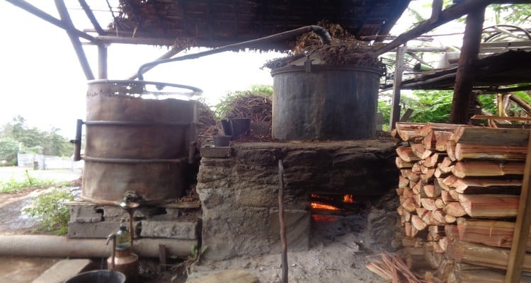 2 rhums arrangés Noël, distillation du géranium four en chauffe