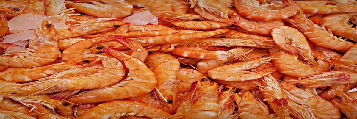 crevettes au curry marché