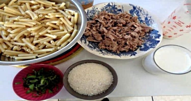 gratin de macaronis préparation
