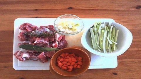 blanquette de veau, les ingrédients