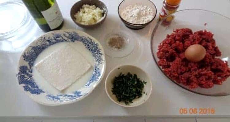 boulettes de viande hachée préparation
