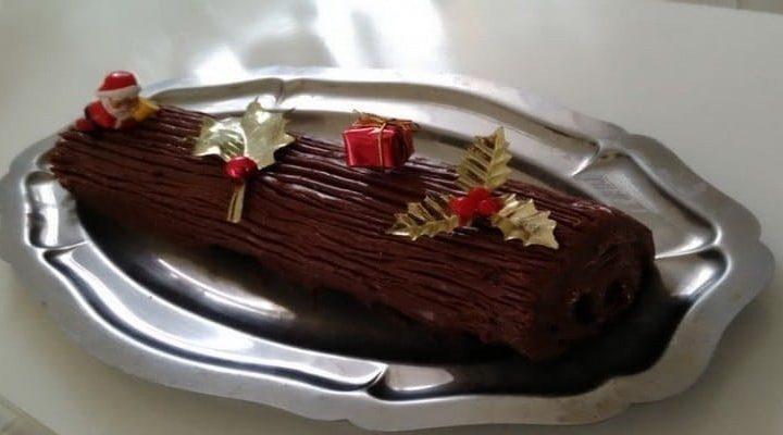 Bûche de Noël au chocolat que vos bambins vont courtiser