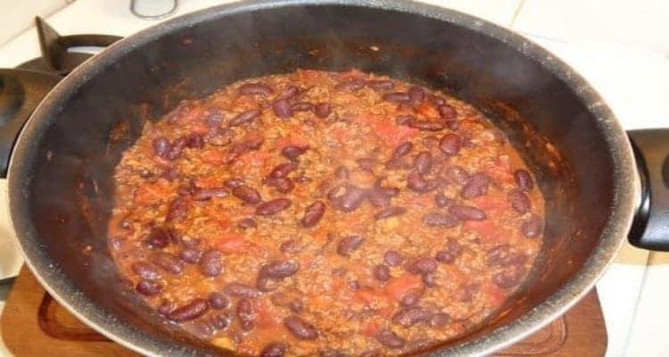 chili con carne cuisson