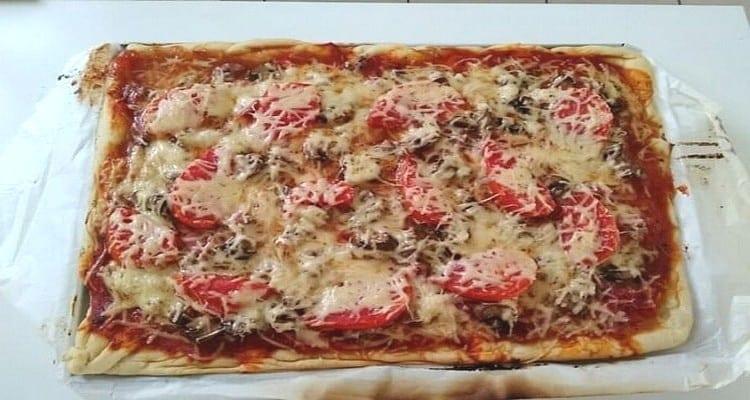 une pizza maison pour toute la famille