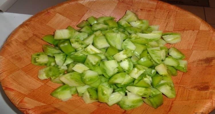 confiture de tomates vertes coupe