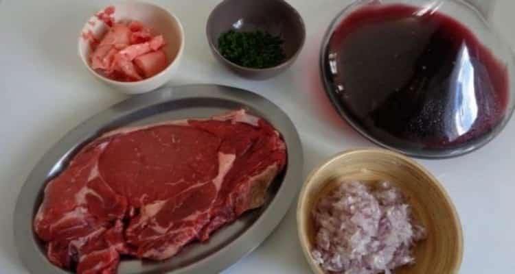 entrecôte sauce bordelaise préparation