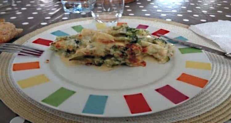 gratin brocoli assiette
