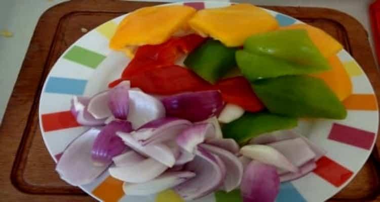 légumes rôtis assiette