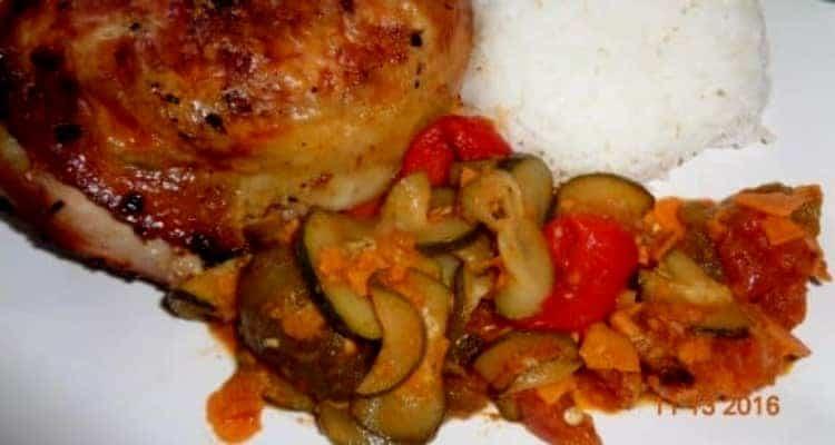 poulet rôti mariné service