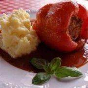 Poivrons farcis - Boulette de viande