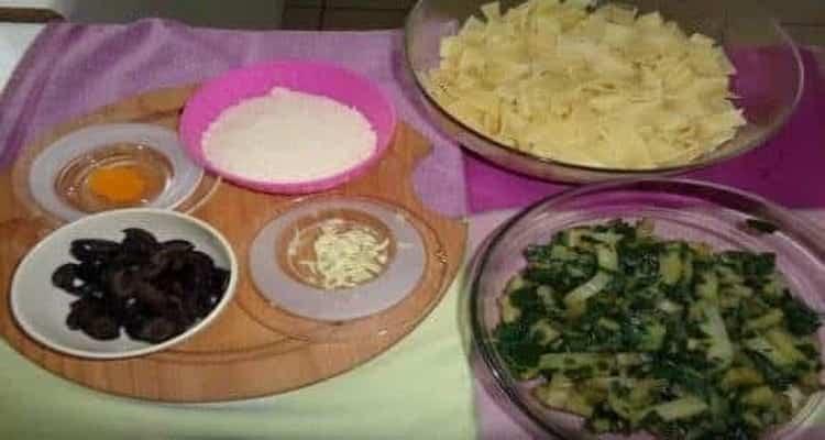 tagliatelle aux blettes fraîches préparation