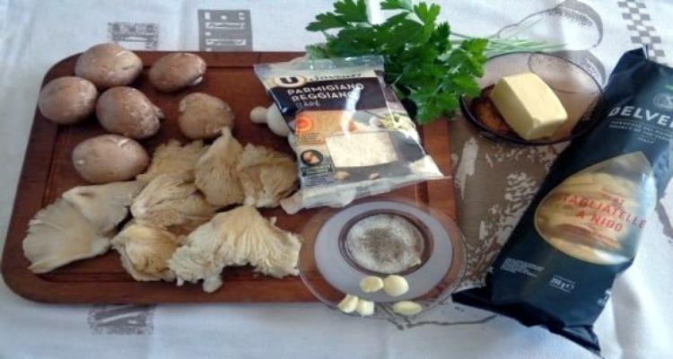 500 gr de tagliatelles champignons préparation