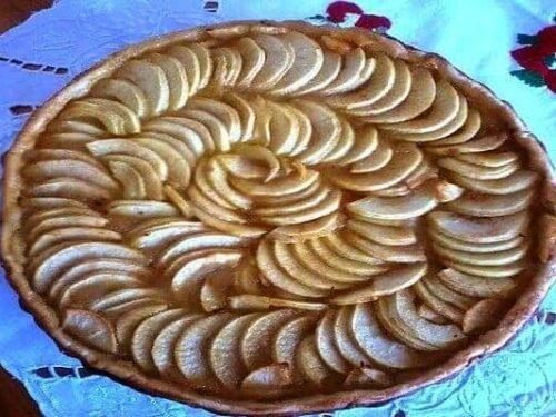 tarte aux pommes - tenir