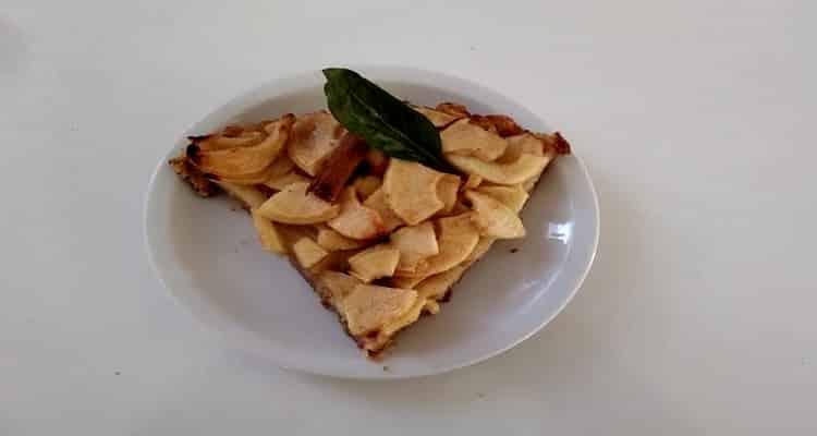 tarte aux pommes sans pâte, part