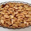 tarte aux pommes sans pâte plat de service