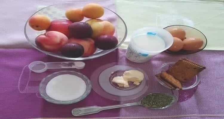 Tian aux fruits, les ingrédients