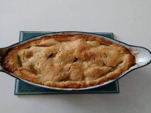 tarte aux pommes - Tarte à la rhubarbe