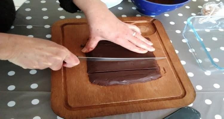 truffe au chocolat coupe