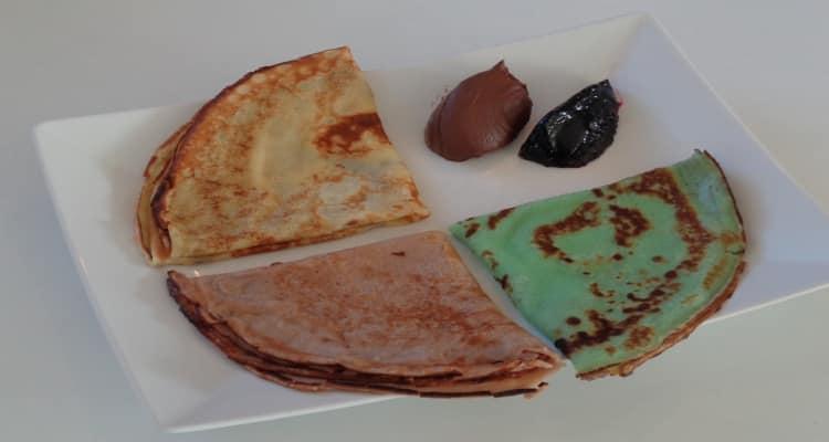 pâte à crêpe 3 couleurs