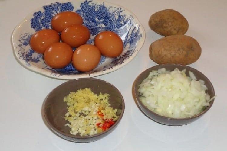 tortilla patates les ingrédients recette