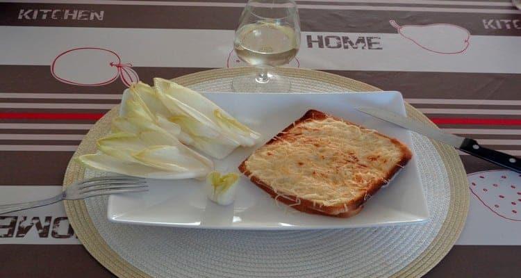croque-monsieur assiette