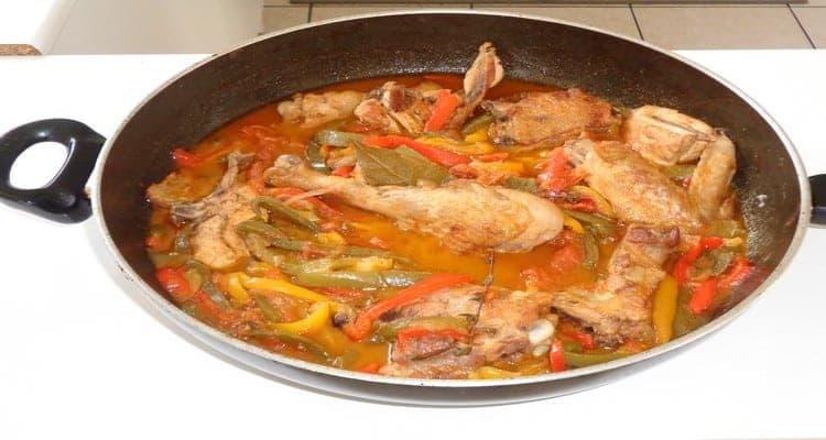 poulet basquaise plat mijoté