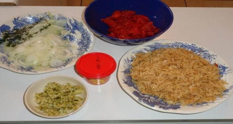 préparation du rougail Chevaquines