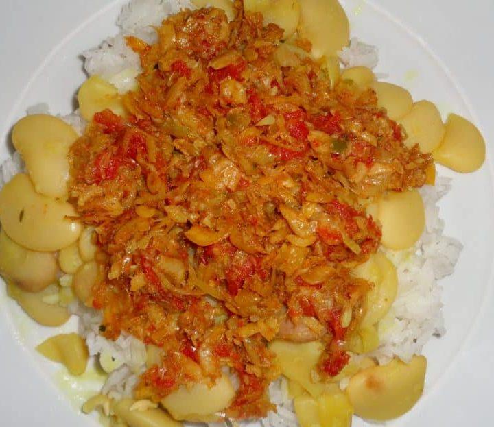Rougail Chevaquines (petites crevettes de rivière séchées)