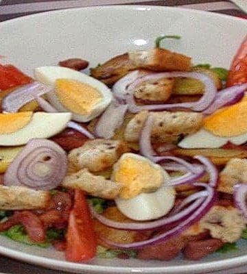 salade - Petit-déjeuner complet