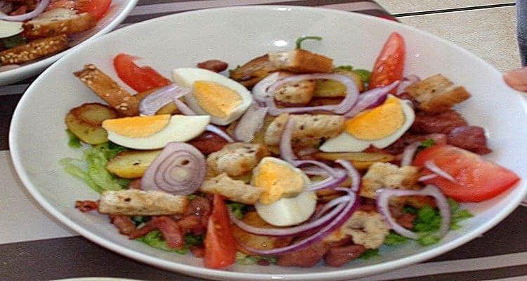 Salade paysanne gésiers de volaille – recette feuille de chêne