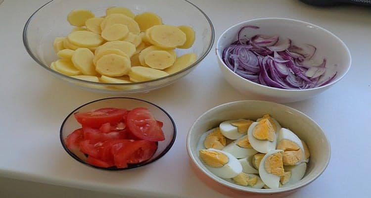 Salade paysanne gésiers pommes de terre