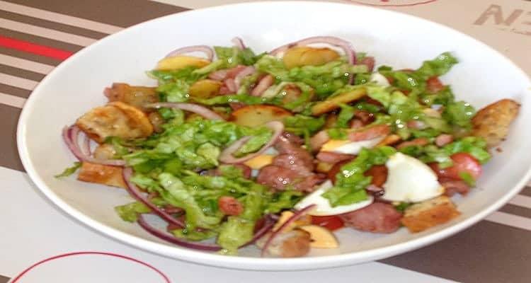 recette de salade paysanne de gésiers