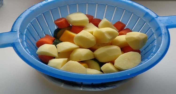 recette rôti de porc avec les légumes