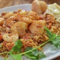 Seychelles Crevettes au riz et au coriandre